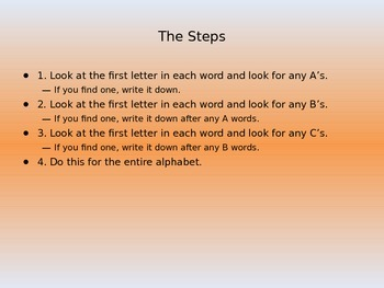 ABC Order PowerPoint Lesson for Grade 2