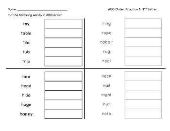 ABC Order Practice