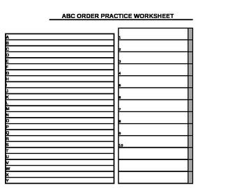 ABC Order Practice Worksheet