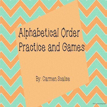 ABC Order Practice and Games