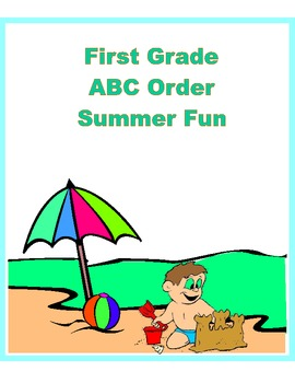 ABC Order Practice for First Grade-Beach Theme