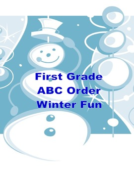 ABC Order Practice for First Grade-WinterTheme