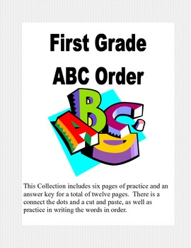 ABC Order Practice for First Grade