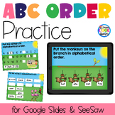 ABC Order Practice for Google Slides (Alphabetical Order)