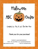 ABC Order Practice for Halloween