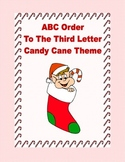 ABC Order Practice to the Third Letter Printable Worksheets-Christmas Theme