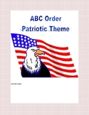 ABC Order Practice to the Third Letter Printable Worksheets-Patriotic Theme