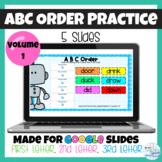 ABC Order Practice using Google Slides
