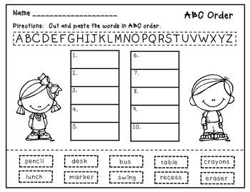 ABC Order - Printables