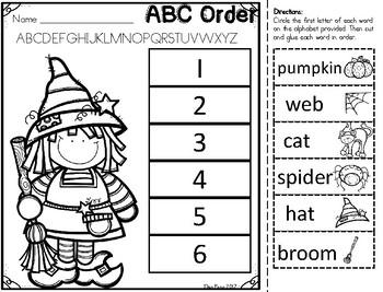 ABC Order Printables