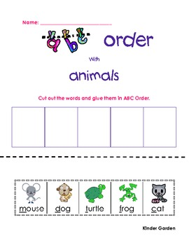 ABC Order Printables Pack