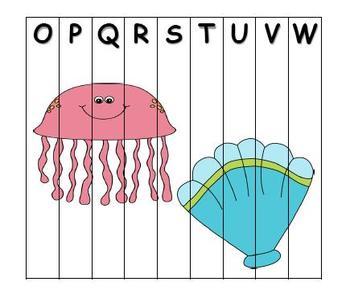 ABC Order Puzzle Oceane Theme