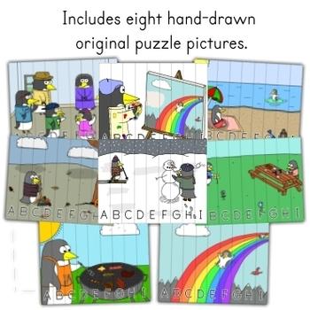 Penguin Theme - ABC Order Puzzle Set