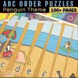ABC Order Puzzle Set | Winter Penguin Theme