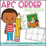 ABC Order Puzzles - Back to School