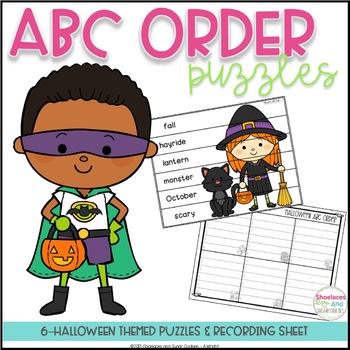 ABC Order Puzzles - Halloween