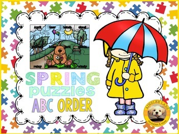 ABC Order Puzzles: Spring Edition