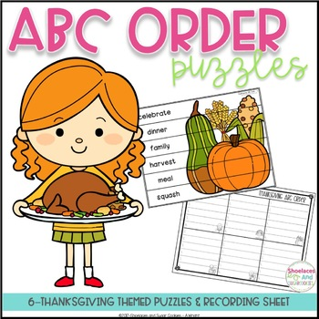 ABC Order Puzzles - Thanksgiving