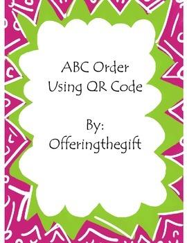 ABC Order QR Code Center Activity