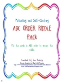 ABC Order Riddle Pack