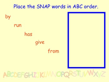 ABC Order SMART Notebook