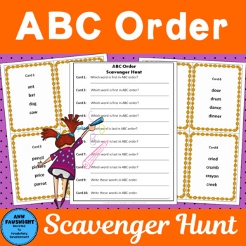 ABC Order Scavenger Hunt