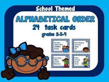 ABC Order, School Theme