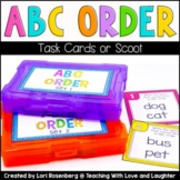 ABC Order Task Cards or Scoot