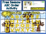 Free ABC Order Seesaw (Uppercase letters)