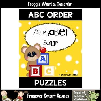 """ABC Order--Sequence Alphabet Letters """"Alphabet Soup"""""""