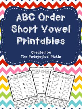 ABC Order Short Vowel Sort