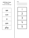 ABC Order Sight Words Cut and Paste