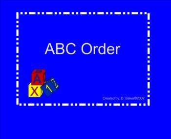 ABC Order Smartboard Practice
