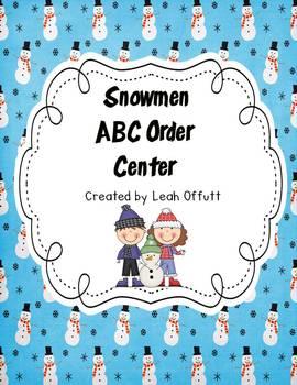 ABC Order-Snowman Theme