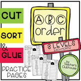 ABC Order Sorts (3 Levels) Bundle