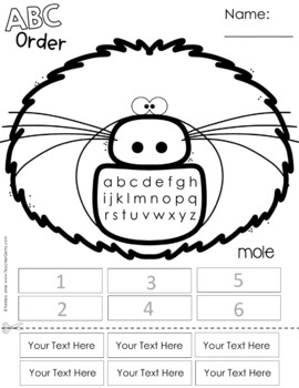 ABC Order Spelling Practice for Any List - Woodland Animals