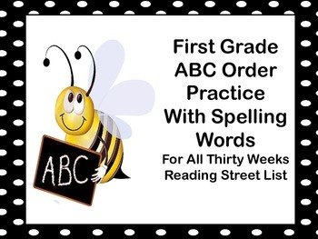 ABC Order Spelling Words Reading Street First Grade