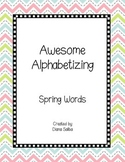 ABC Order- Spring Words