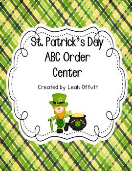 ABC Order-St. Patrick's Day
