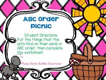 ABC Order Station