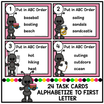 ABC Order - Summer Theme