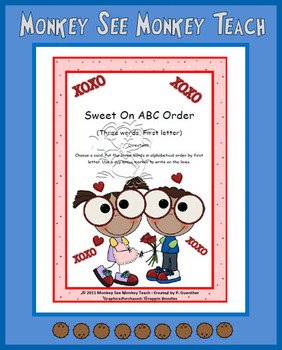 ABC Order Sweet on Valentine (First Letter  Three Words)
