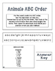 ABC Order Task Cards: Animals
