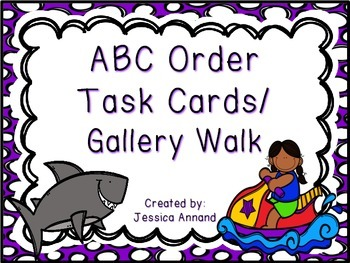 ABC Order Task Cards / Gallery Walk and Worksheet