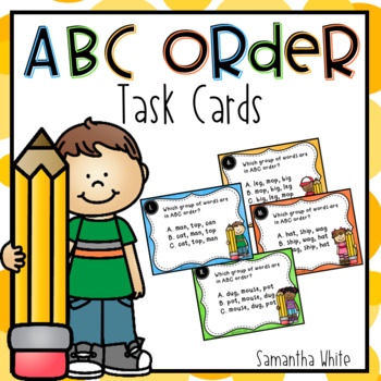 ABC Order Task Cards - Set 1