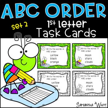 ABC Order Task Cards - Set 2