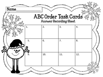 ABC Order. Task Cards. Set 2 Language Arts Center. Alphabetical Order Review