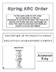 ABC Order Task Cards: Spring