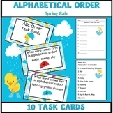 ABC Order Task Cards - Spring Rain Theme