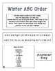 ABC Order Task Cards: Winter